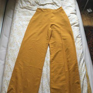 High Wasted, Mustard Yellow, Retro Pants